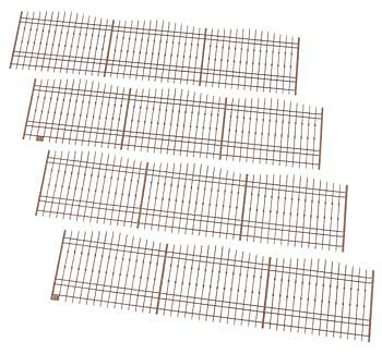 Atlas-O 30 Victorian Fence Laser (4-7.5 sections) O Scale Model Railroad Building Accessory #4001004