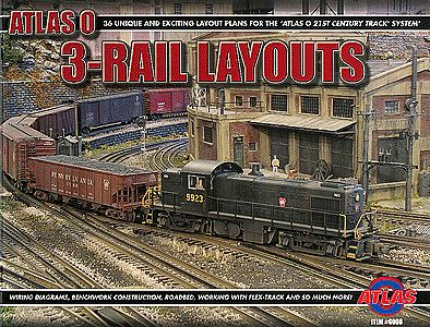 Atlas-O Book - Thirty-Six 3-Rail Layouts -- O-Scale Model Railroading Book -- #6008