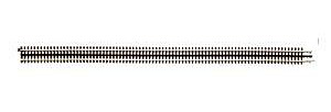 Atlas-O 3-Rail 40 Custom Flex Track Straight NS -- O Scale Nickel Silver Model Train Track -- #6056