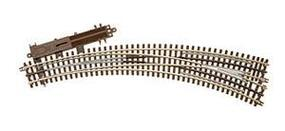 Atlas-O 3-Rail - O72/O54 Curved Lefthand Remote Switch O Scale Nickel Silver Model Train Track #6077