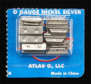 Atlas-O (bulk of 12) Rail Joiners (16) -- O Scale Nickel Silver Model Train Track -- #6091