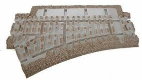 Atlas-O 3-Rail Switches and Crossings - O-36 Left Hand Switch O Scale Model Train Track Roadbed #66075
