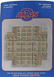 Atlas-O 3-Rail Switches and Crossings - 90 Degree Crossing -- O Scale Model Train Track Roadbed -- #66080