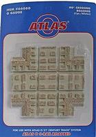Atlas-O 3-Rail Switches and Crossings - 90 Degree Crossing O Scale Model Train Track Roadbed #66080
