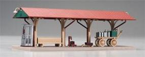 Atlas-O Station Platform Only Red, Green, Tan, Beige Built-Up O Scale Model Railroad Building #66902