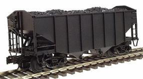 Atlas-O 55-Ton Fishbelly 2-Bay Open Hopper 3-Rail Undecorated O Scale Model Train Freight Car #6751