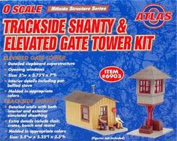 Atlas-O Trackside Shanty & Elevated Gate Tower Kit O Scale Model Railroad Building #6903