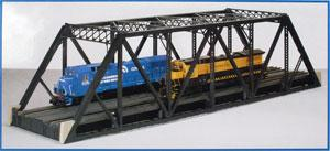 Atlas-O Double Track Pratt Truss Bridge Kit - 3 Rail -- O Scale Model Railroad Bridge -- #6921