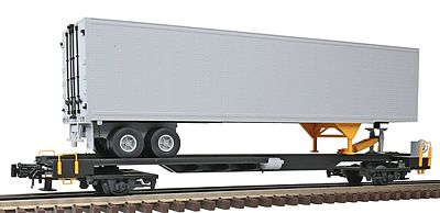 Atlas-O Front Runner w/45' Pines Trailer - 3-Rail Undecorated -- O Scale Model Train Freight Car -- #6950