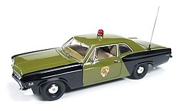 Auto World Diecast 1966 Chevy Biscayne MD Police -- Diecast Model Car -- 1/18 Scale -- #1030
