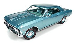 Auto World Diecast 1966 Chevelle SS 396 50th Anniversary -- Diecast Model Car -- 1/18 Scale -- #1066
