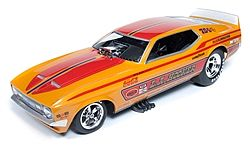 Auto World Diecast 1971 LA Hooker Mustang F/C -- Diecast Model Car -- 1/18 Scale -- #1106