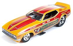 AutoWorldDiecast 1972 Cha Cha Mustang F/C Diecast Model Car 1/18 Scale #1113