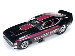 Auto World Diecast 1972 Mustang Trojan Horse -- Diecast Model Car -- 1/18 Scale -- #1122