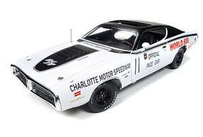AutoWorldDiecast 1971 Dodge Charger World 600 Pace Diecast Model Car 1/18 Scale #223