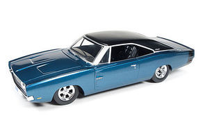 AutoWorldDiecast 1969 Custom Dodge Charger Diecast Model Car 1/24 Scale #24005