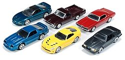 Auto World Diecast AutoWorld Diecast Set (6 Cars) -- Diecast Model Car -- 1/64 Scale -- #64011a