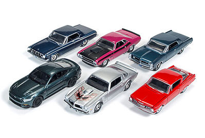 Auto World Diecast AutoWorld Diecast Set (6 Cars) -- Diecast Model Car -- 1/64 Scale -- #64032a