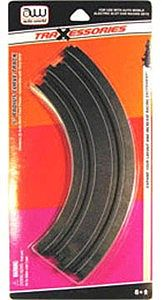Auto World Racing HO 9'' Curved Track (2pk) -- HO Scale Slot Car Track -- #173