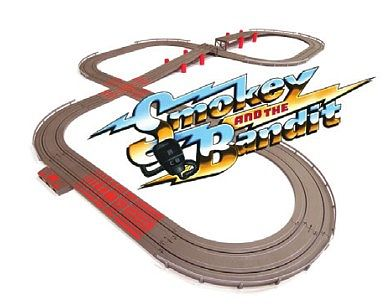 Auto World Racing Smokey & The Bandit Slot Car 16' Racing Set with Jumps -- HO Scale Slot Car Set -- #288