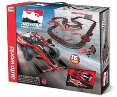 Auto-World HO Indy Slot Car 16 Racing Set HO Scale Slot Car Set #296