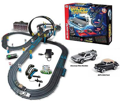Auto World Racing HO Back to the Future 14' Racing Set -- HO Scale Slot Car Set -- #297