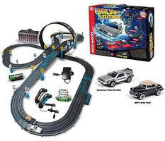 Auto-World HO Back to the Future 14 Racing Set HO Scale Slot Car Set #297