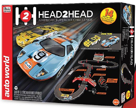 Auto-World HO Head-to-Head American Supercar Challenge Slot Car 14 Racing Set