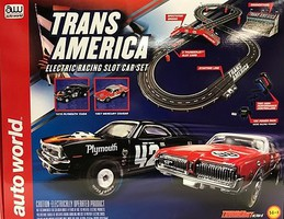 Auto-World HO Trans America Slot Car 10' Racing Set