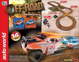 Auto-World HO Off-Road X-Traction Ultra-G Slot Car 10' Racing Set
