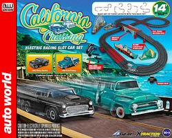 Auto-World HO California Cruising The Pacific Coast Highway Slot Car 14' Racing Set