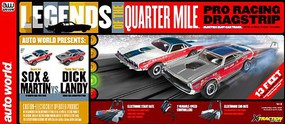 Auto-World HO Legends of the Quarter Mile Drag Slot Car 13' Racing Set