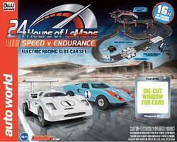 Auto-World HO 24 Hours of LeMans Speed V Endurance Slot Car 16' Racing Set