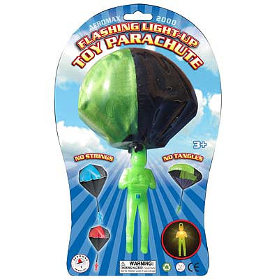 AEROMAX INC. Aeromax Flashing Light-Up Tangle Free Parachute