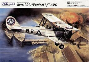 AZ Avro 626 Prefect/Tatra T126 Trainer BiPlane Plastic Model Airplane Kit 1/72 Scale #7230