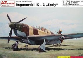 AZ Rogozarski IK3 Early WWII Yugoslav Fighter Plastic Model Airplane Kit 1/72 Scale #7297