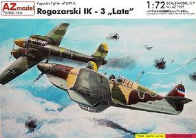 AZ Rogozarski IK Late WWII Yugoslav Fighter Plastic Model Airplane Kit 1/72 Scale #7298