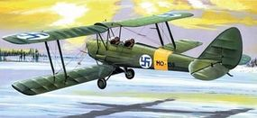 AZ DH82A Tiger Moth BiPlane Fighter North Europe Plastic Model Airplane Kit 1/72 Scale #7409
