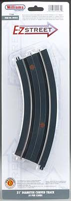 Bachmann WM E-Z Street D-21 Curved Track (4) O -- O Scale Model Railroad Road Accessory -- #00262