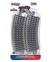 Bachmann 36 Curved E-Z Track 4 pack O Scale Nickel Silver Model Train Track #00281