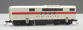 Bachmann Diesel EMD FT B Unit - Powered w/8-Wheel Drive Chicago, Burlington & Quincy (white, red) - HO-Scale