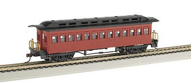Bachmann 1860-1880 Coach Painted Unlettered HO Scale Model Train Passenger Car #13402