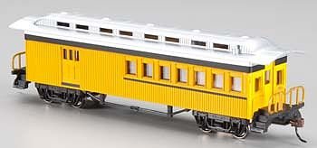 Bachmann 1860-1880 Combine Painted Unlettered -- HO Scale Model Train Passenger Car -- #13503