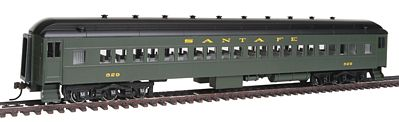 Bachmann 72 Heavyweight Santa Fe #829 HO Scale Model Train Passenger Car #13703