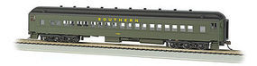Bachmann 72 Heavyweight Coach Southern #1050 HO Scale Model Train Passenger Car #13706