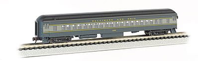Bachmann 72' Heavyweight Coach Baltimore & Ohio -- N Scale Model Train Passenger Car -- #13753