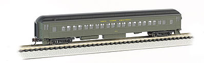 Bachmann 72' Heavyweight Coach New York Central -- N Scale Model Train Passenger Car -- #13754