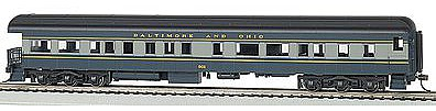 Bachmann 72' Heavyweight Observation w/Light B&O #901 -- HO Scale Model Train Passenger Car -- #13803