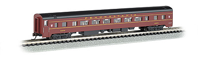 Bachmann 85' Smooth-Side Coach w/Interior Lighting PRR -- N Scale Model Train Passenger Car -- #14251