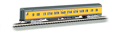 Bachmann 85' Smooth-Side Coach w/Interior Lighting UP -- N Scale Model Train Passenger Car -- #14254